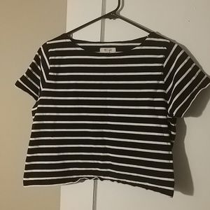 Madewell Cropped Striped Tee